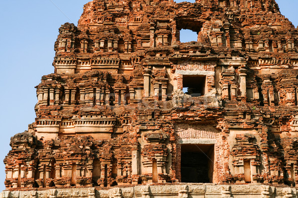 Ancient ruins detail hampi india Stock photo © Juhku