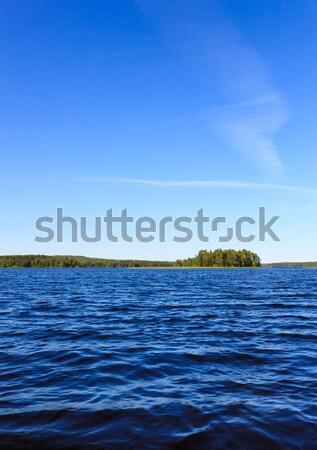 Lago cenário Finlândia ensolarado verão Foto stock © Juhku