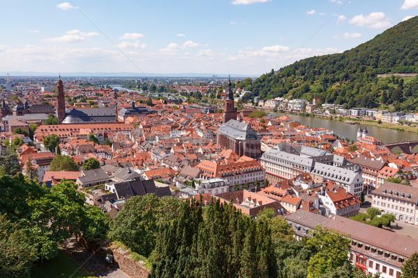 Miasta słoneczny lata dzień Niemcy zielone Zdjęcia stock © Juhku