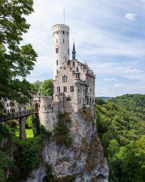 ストックフォト: 城 · ドイツ · 美しい · 森林 · 自然