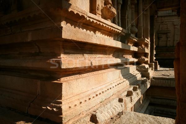 Corner of ancient building in hampi india Stock photo © Juhku