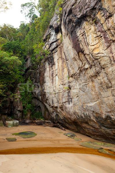 Sandstone at Bako national park Borneo Stock photo © Juhku