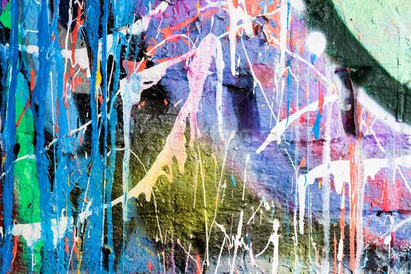 Dripping paint graffiti wall Stock photo © Juhku