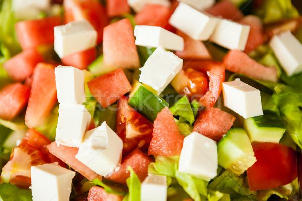 Fresh feta salad Stock photo © Juhku