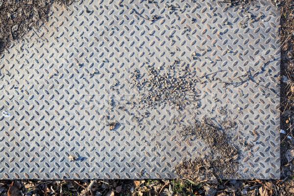 Dirty industrial grip floor texture Stock photo © Juhku