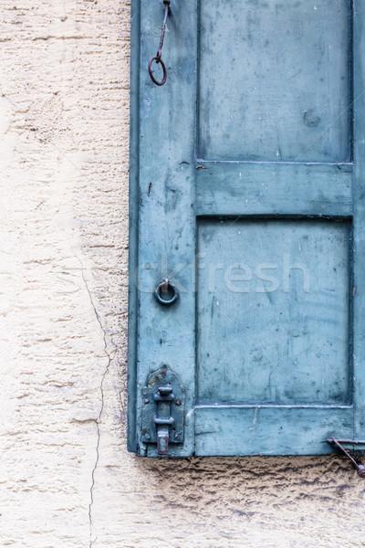 старые детали синий дома Сток-фото © Juhku
