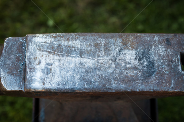 Elnyűtt vasaló üllő üres kint fa Stock fotó © Juhku