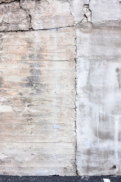 Dirty cracked concrete wall Stock photo © Juhku