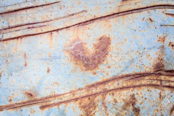 Metallic Rost Textur Herzform rostigen Liebe Stock foto © Juhku