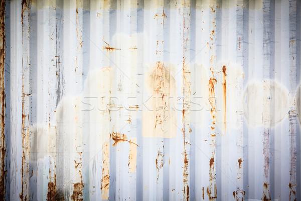 Metallic rusty texture stripe pattern Stock photo © Juhku