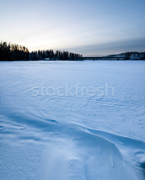 Wind snow pattern background Stock photo © Juhku