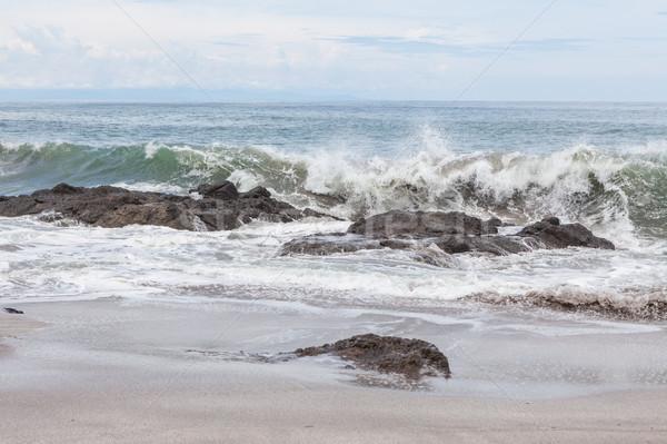 Vagues roches plage Costa Rica ciel eau Photo stock © Juhku