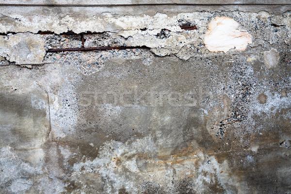Broken concrete wall texture Stock photo © Juhku