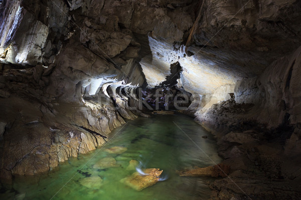 подземных реке пещере парка Борнео Малайзия Сток-фото © Juhku