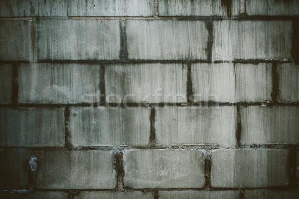 Dirty concrete block wall Stock photo © Juhku