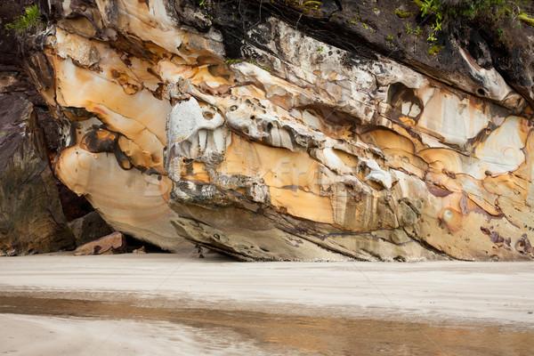 Mooie zandsteen rock strand park Maleisië Stockfoto © Juhku