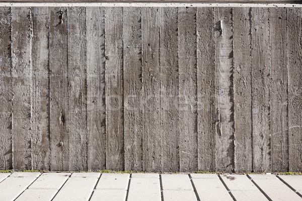 Hout boord textuur beton muur abstract Stockfoto © Juhku