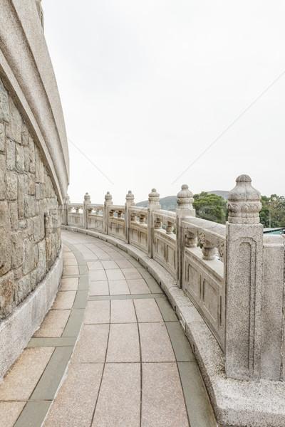 Stock photo: Stone walkway around big buddha hong kong