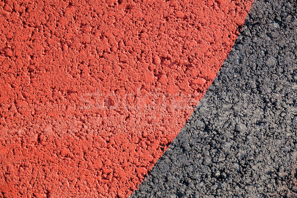 Red paint in asphalt texture Stock photo © Juhku