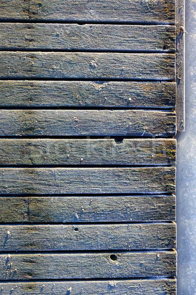 凍結 古い 桟橋 冬 午前 ストックフォト © Juhku