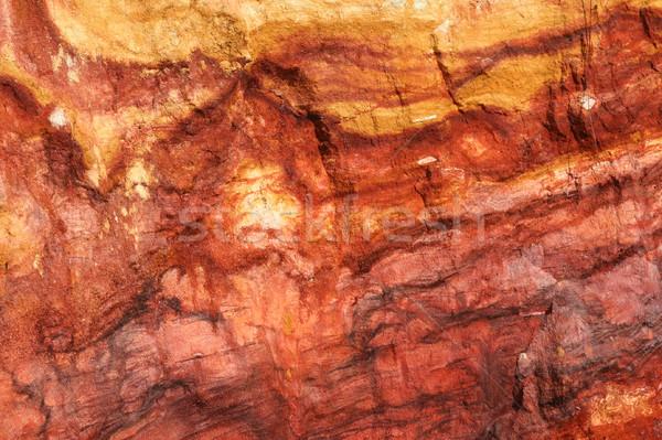 Red vivid rock wall Stock photo © Juhku