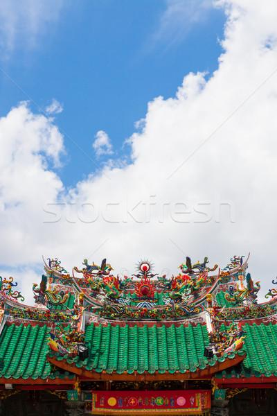 Chinese temple roof Stock photo © Juhku