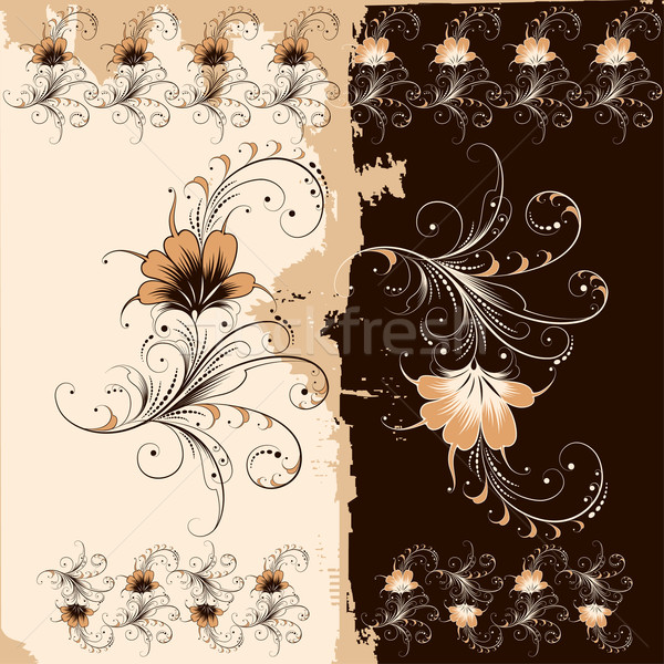 Virágmintás dísz minta szerkeszthető virág textúra Stock fotó © jul-and