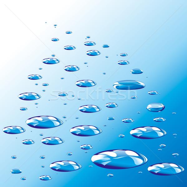 Niebieski kroplami wody wody deszcz Zdjęcia stock © jul-and