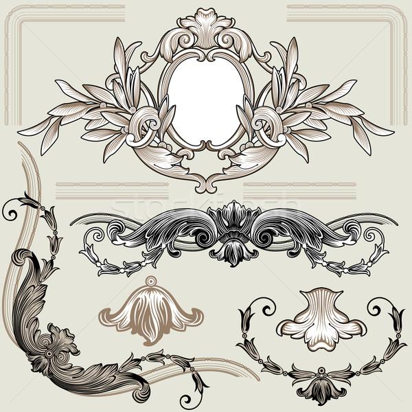 набор классический цветочный украшение Элементы коллекция Сток-фото © jul-and