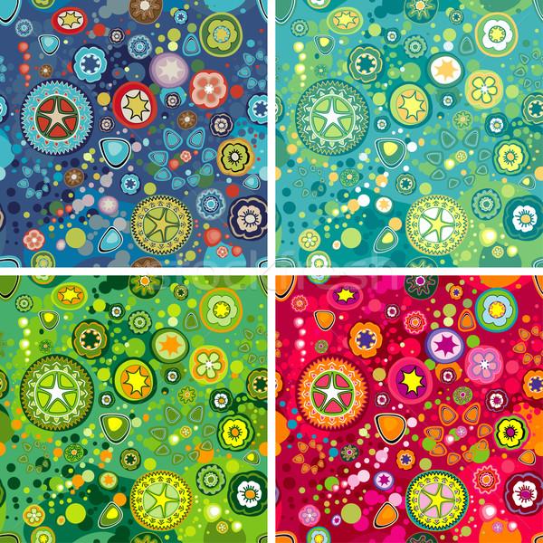 Kwiat przestrzeni kolorowy środowisk kwiaty Zdjęcia stock © jul-and