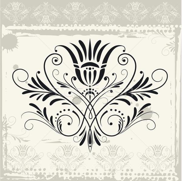 цветочный орнамент Гранж бумаги дизайна фон Сток-фото © jul-and