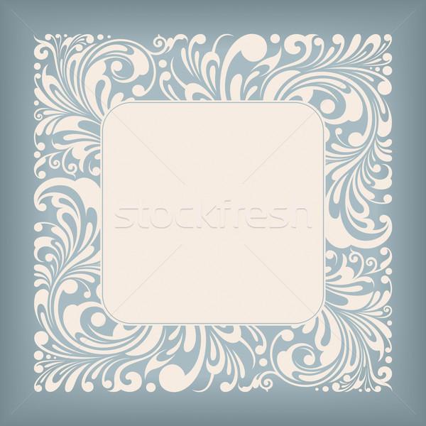Ozdoba placu etykiety ramki kwiatowy Zdjęcia stock © jul-and