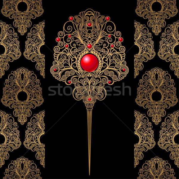 Klasik dekorasyon duvar kağıdı takı düzenlenebilir dizayn Stok fotoğraf © jul-and