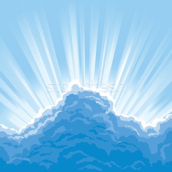 日光 後ろ 雲 太陽 空 ストックフォト © jul-and
