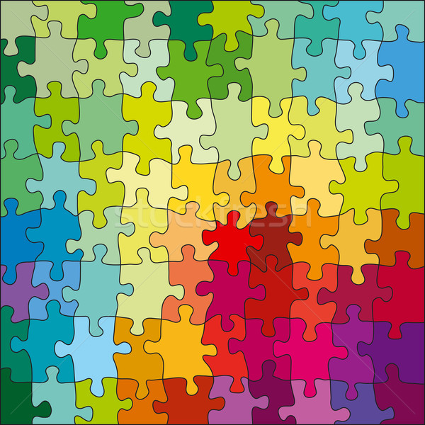 Jigsaw Color Puzzle Stock photo © jul-and