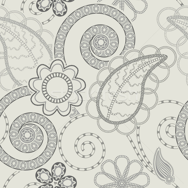 Végtelenített virágmintás minta szerkeszthető terv levél Stock fotó © jul-and