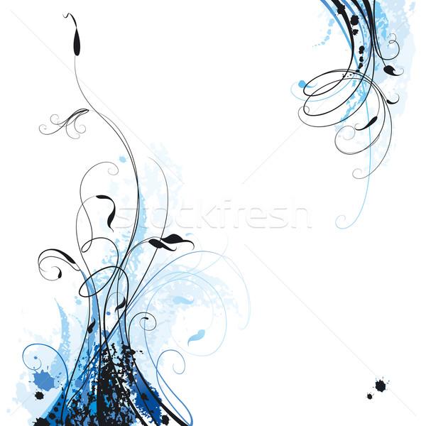 Virágmintás tinta elemek szerkeszthető virágok tavasz Stock fotó © jul-and