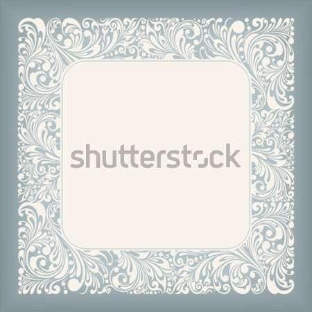 Dísz tér címke keret virágmintás szerkeszthető Stock fotó © jul-and