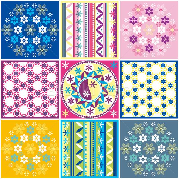 Bezszwowy kolorowy wzór tekstury tapety Zdjęcia stock © jul-and