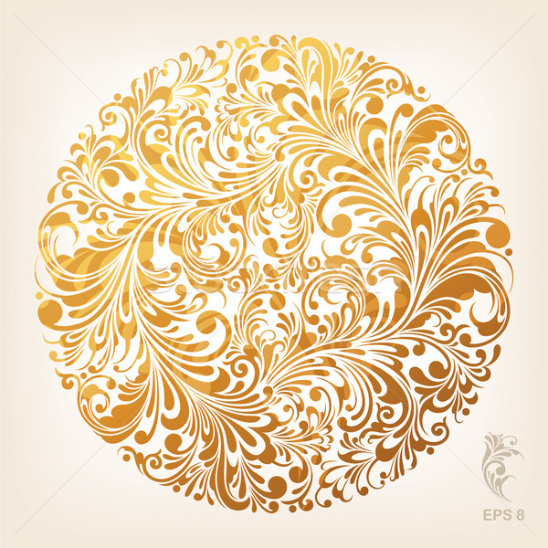 Ornamental Gold Circle Pattern Stock photo © jul-and