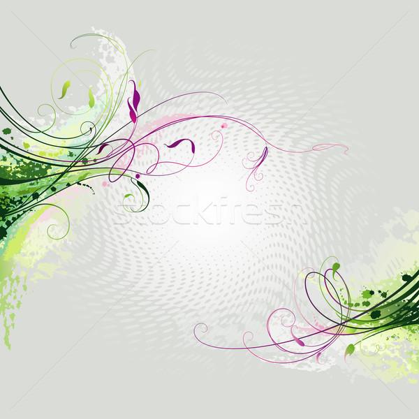 Stock fotó: Virágmintás · dekoráció · dekoratív · színes · elemek · szerkeszthető