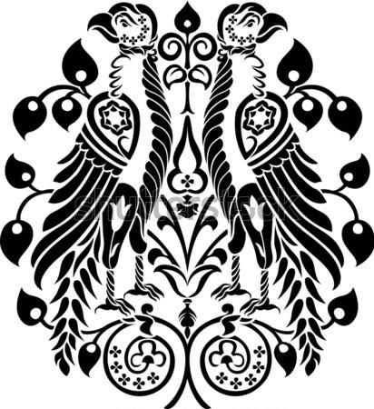Иглз украшение птиц украшенный цветочный украшения Сток-фото © jul-and