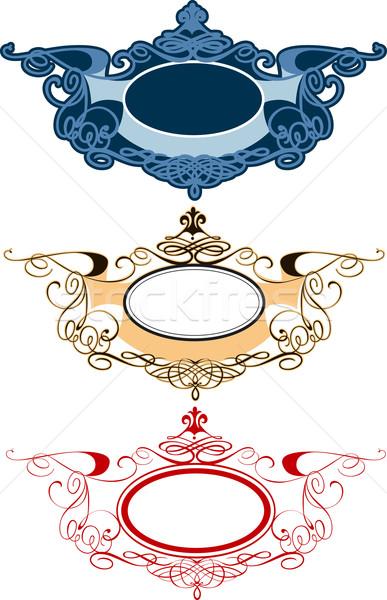 Decorativo ornamento conjunto abstrato Foto stock © jul-and