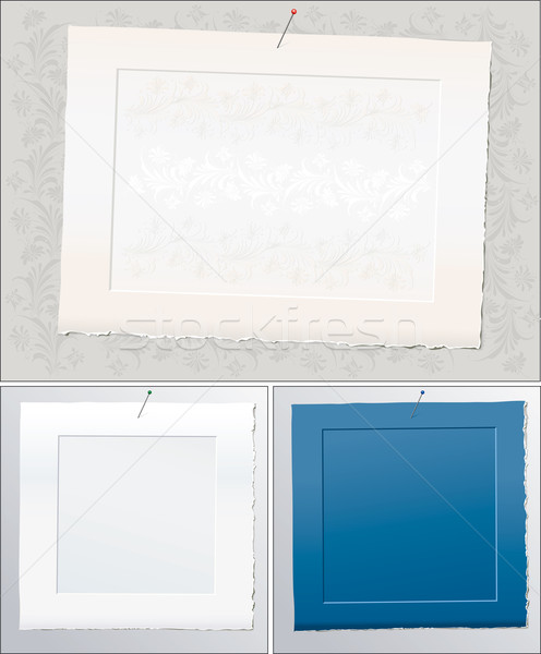 Zestaw papieru ramki tapety wzór Zdjęcia stock © jul-and
