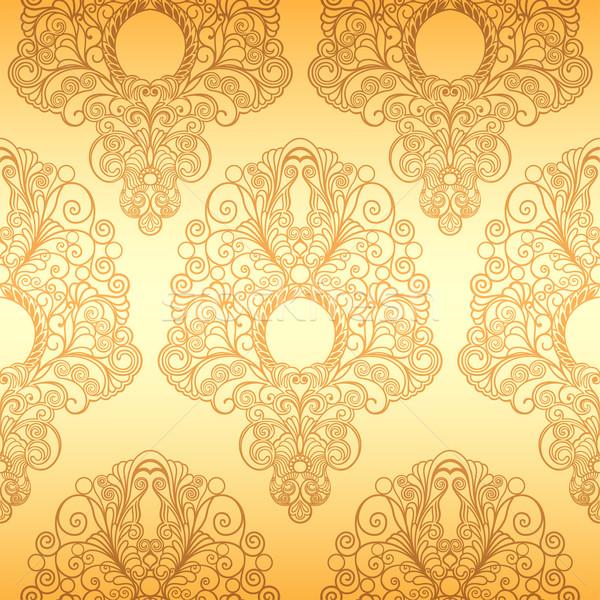 Klasik duvar kağıdı altın süs model Stok fotoğraf © jul-and