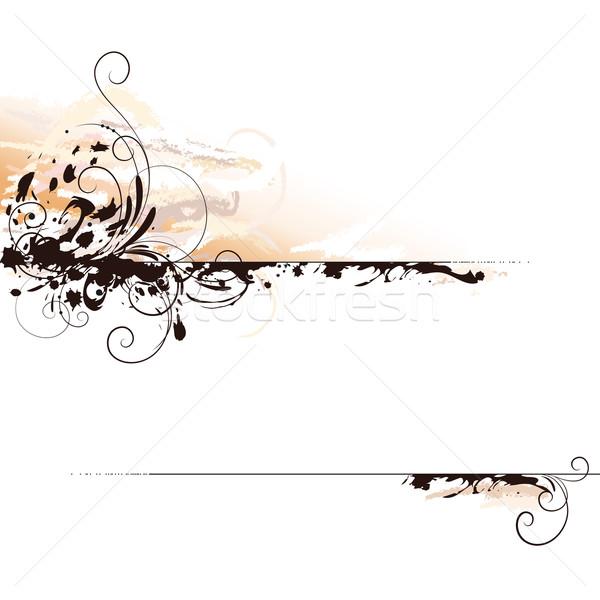 Absztrakt tinta tájkép levél dekoráció szerkeszthető Stock fotó © jul-and