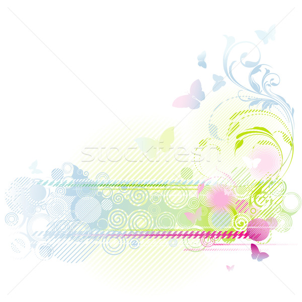 Stock photo: Floral background design
