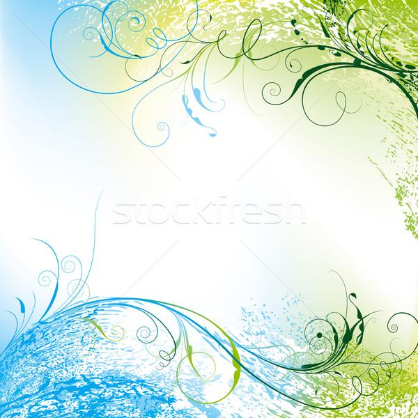 Virágmintás hullámok szerkeszthető virág textúra absztrakt Stock fotó © jul-and
