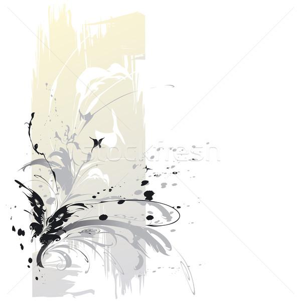 Absztrakt pillangók szerkeszthető virág pillangó tájkép Stock fotó © jul-and