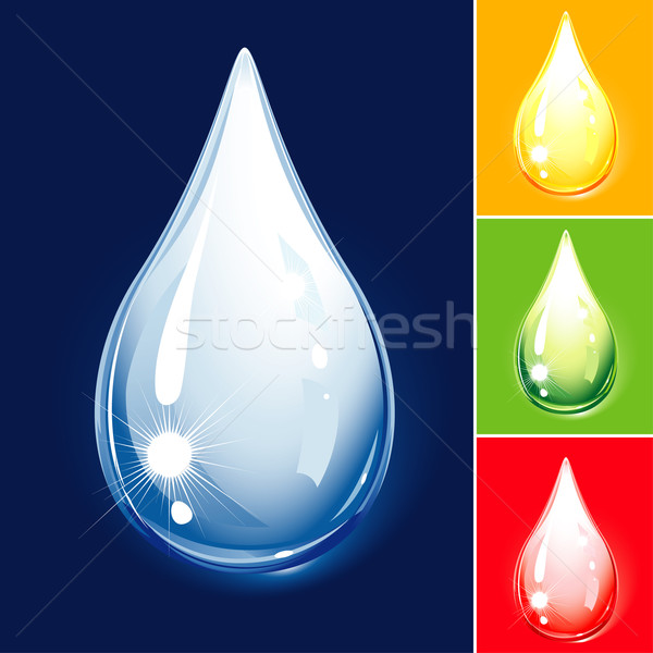 Set Of Colored Drops Stock photo © jul-and